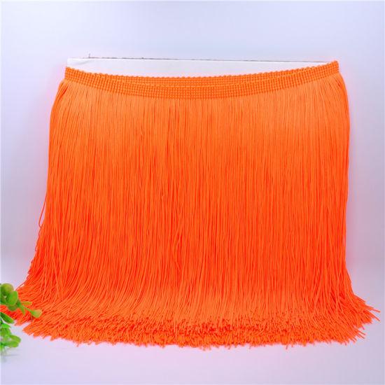 Wholesale Bright Colors Silk Long Chain Fringe Tassel for Dress