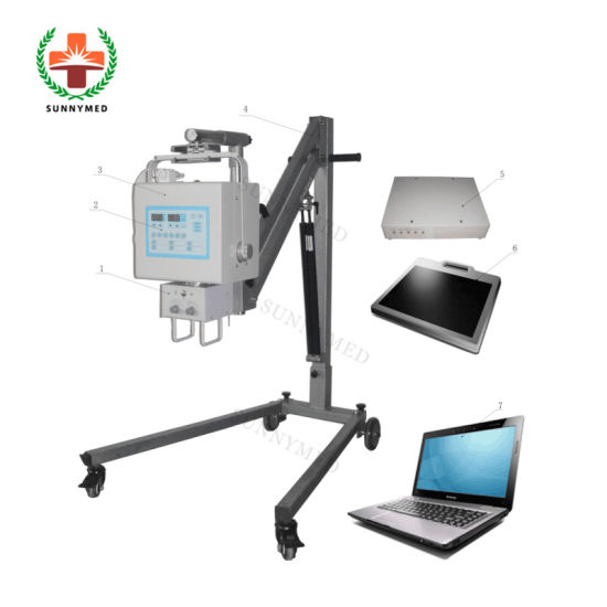 Sy-D019A High Frequency Portable Digital X-ray Machine with Flat Panel