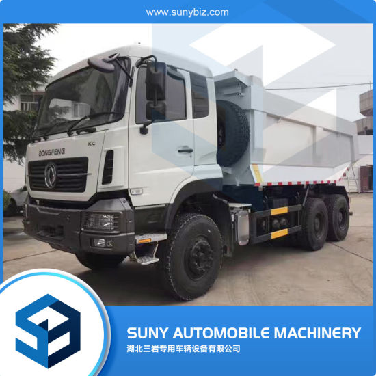 China Yuchai Engine 375hp Dumper Dongfeng 10 Wheeler Dump Truck 30t China Tipper Truck Heavy Truck