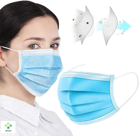 PPE Factory Protective Adults and Kids Respirator Disposable Melt-Blown Face Mask 3 Ply