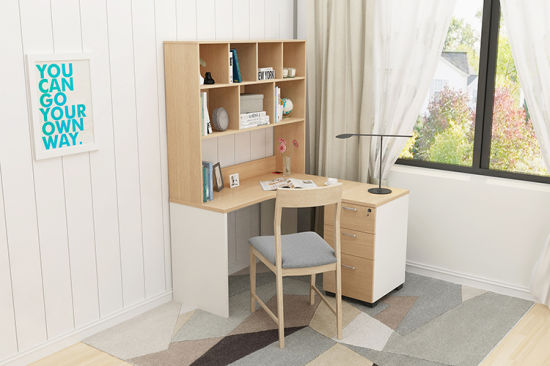 china used computer desk with bookcase modern design office table