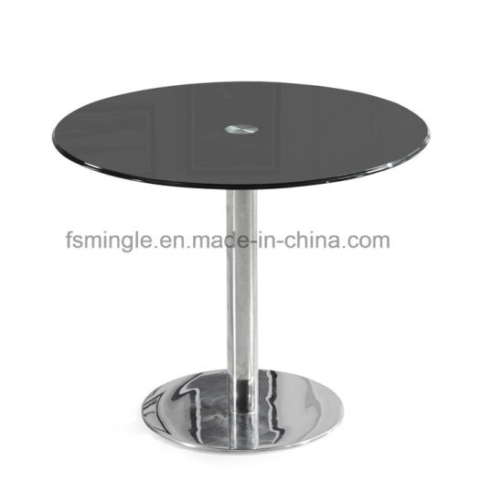 Modern Cafe Shop Wooden Coffee Table With Stainless Legs