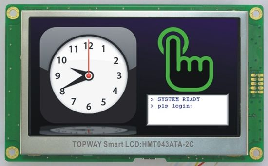 4.3 Inch RS232 Interface Smart TFT LCD Display LCD Module