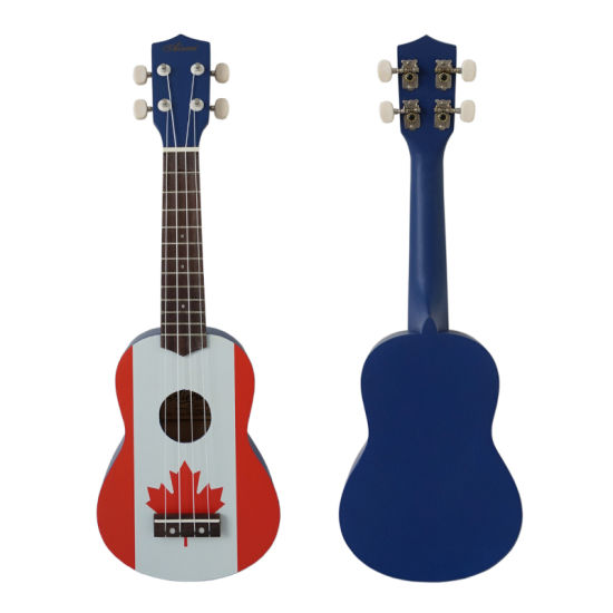 UK Flag Decal Soprano Wooden Child Ukulele pictures & photos