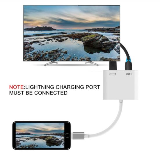 Apple Lightning to HDMI Adapter Digital AV TV Adapter Cable for Apple iPhone 6 7 8 Plus X iPad
