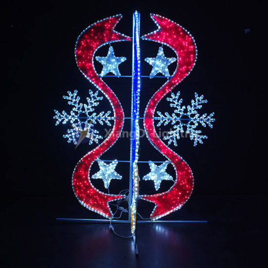 Snowflake and Belt LED Motif Light for Christmas Holiday Street Decoration