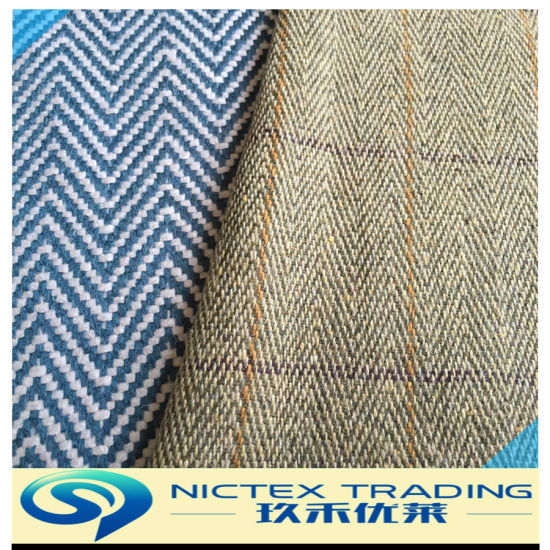 Blended Tweed Colourful Herringbone Wool Fabric, Mix Color Wool Fancy Herringbone Fabric