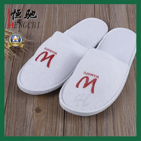 6eec1b293ad0 China Custom Logo Print Hotel Disposable Nap Slipper - China Slipper ...