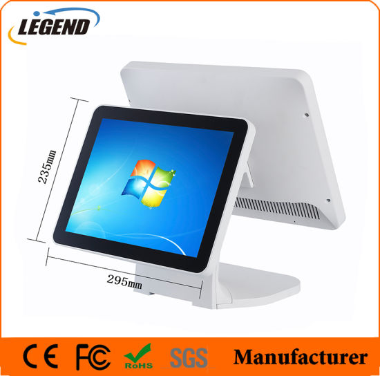 "15"" All in One Capacitive Touch Screen POS Terminal with White"