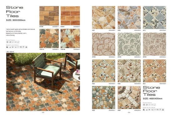 300x300 Ceramic Floor Tile Stone Look For Outdoor Building