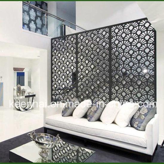 China Decorative Aluminium Screens Laser Cut Room Dividers Kh