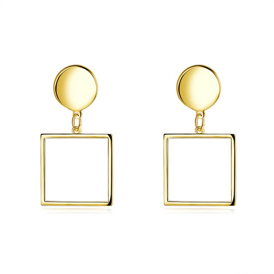 Square Shape Pendant Gold Earrings Women Fashion Earrings pictures & photos