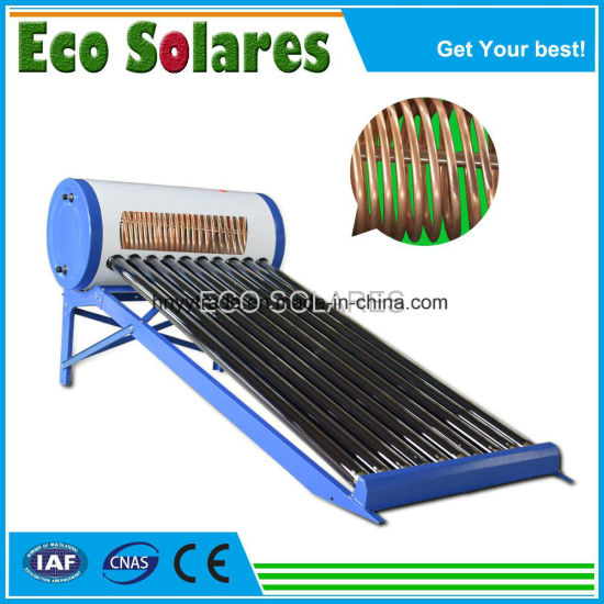 Pre-Heated Solar Water Heater with Copper Coil Exchanger Inside