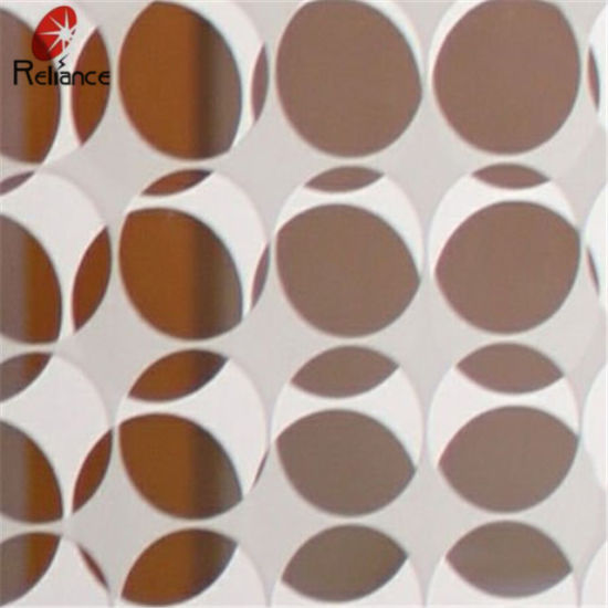 Processed Glass 5mm Deep Acid Etched/Pattern Glass/ Acid Etched Glass pictures & photos