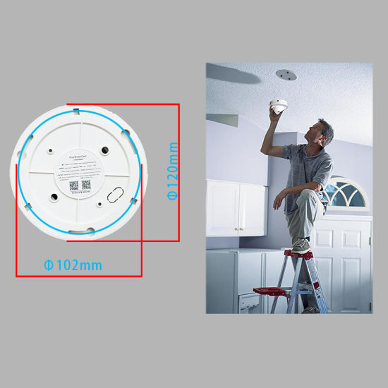 2018 New Fire Smoke Alarm Network CCTV Security WiFi IP Camera pictures & photos
