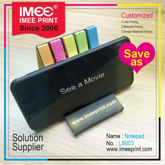Imee Custom Wholesale Desktop 6 Colors Phone Holder and Sticky Note Pad 2 in 1 Office Student Stationery