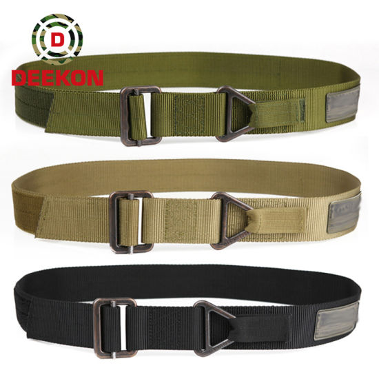Nylon Webbing Tactical Belt for Waist Black Metal Buckle Military Style Belts Casual Army Outdoor