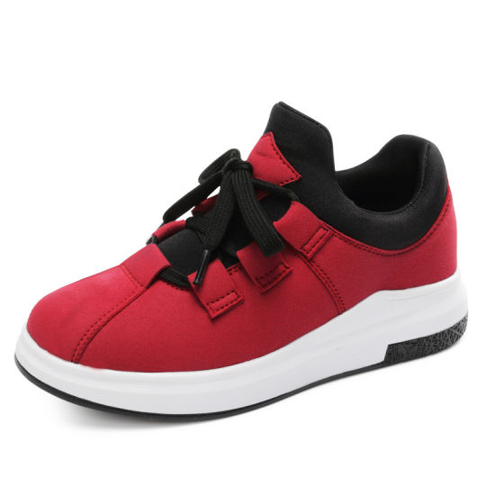 Elastic Cloth Running Shoes for Ladies Athletic Fitness Shoes