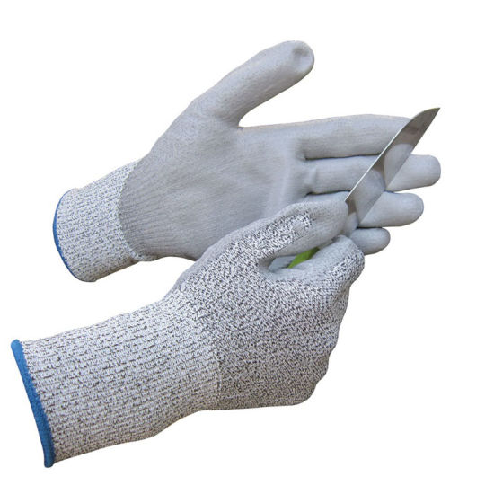 Wholesale Grey Anti Cut Proof Resistant Hand Safety Work ESD PU Coated Glove