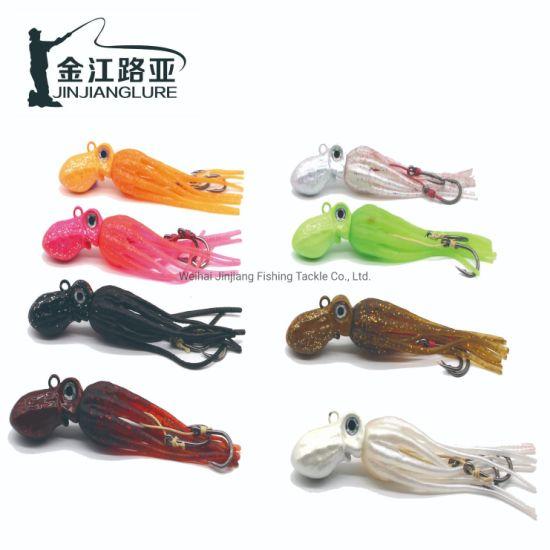 W016 Wholesale Heavy Octopus Sea Squid Skirt Fishing Octopus Lures