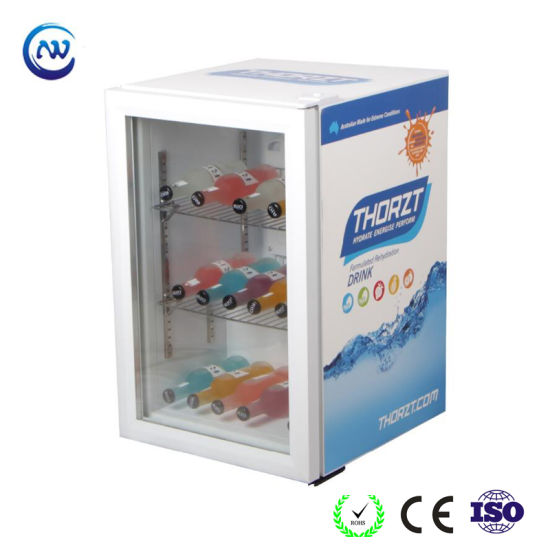 China Commercial Counter Top Glass Door Beer Refrigerator For Bar