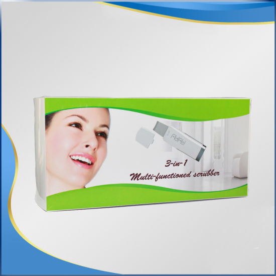 Homemade Skin Peeling Ultrasonic Facial Skin Scrubber pictures & photos