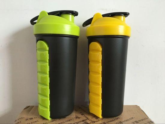 BPA Free 700ml Plastic Custom Logo Protein Shaker Bottle