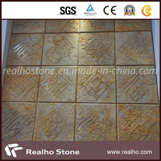 Imperial Gold Marble Stone Art for Wall Decoration pictures & photos