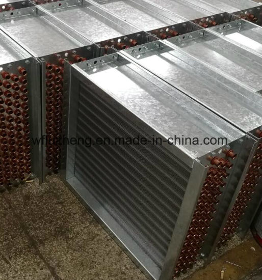 Copper Tube Fin Oil or Air Cooling Heat Exchanger Coil for Condenser Evaporator or Tea