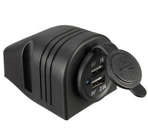 Cigarette Lighter Dual USB Power Charger Adapter pictures & photos