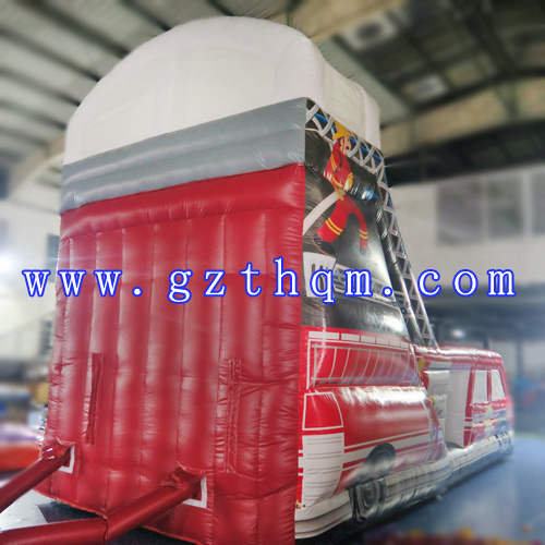 The Bus Inflatable Slide Bed/Inflatable Long Water Slide/PVC Inflatable Adult Outdoor Slide pictures & photos