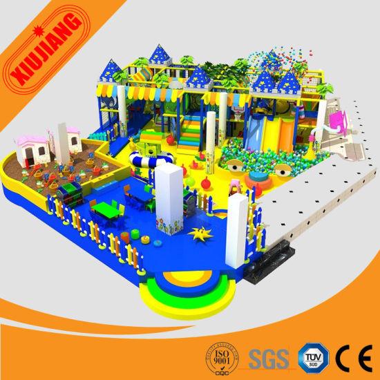 China Commercial Kids Plastic Castle Amusement Parks For Sale