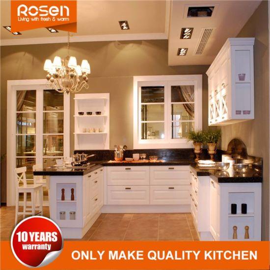 China Best Matt Satin Finish Shaker Style Lacquer Kitchen Furniture