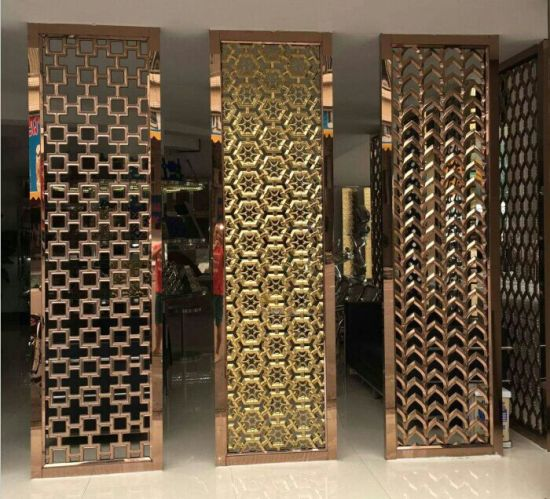 China Supplier Room Partition Screen AluminumStainless Steel