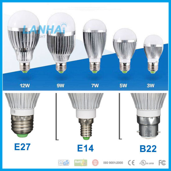 2 E27 Bulb 5W 5x1 500LM White LED 85~265V Lens Lamp Energy saving Aluminium