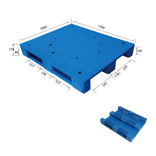 Factory Direct Supply HDPE Heavy Duty Plastic Pallet for Warehouse