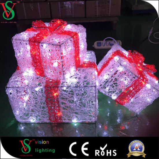 LED Fancy Gift Box Decoration Light for Christmas pictures & photos