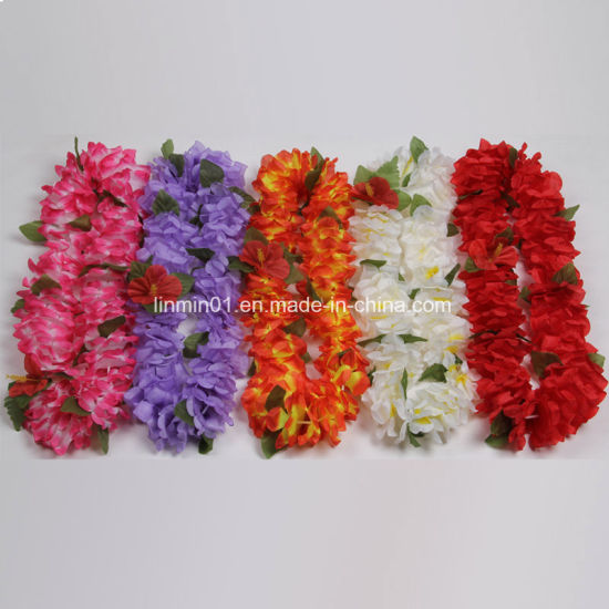 supplies lei beach hawaiian garland theme necklace for flower leis moana silk party pa pcs