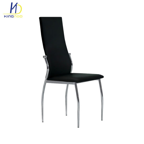 Surprising High Back Durable Powder Coated Frame Dining Leather Kitchen Chairs Andrewgaddart Wooden Chair Designs For Living Room Andrewgaddartcom