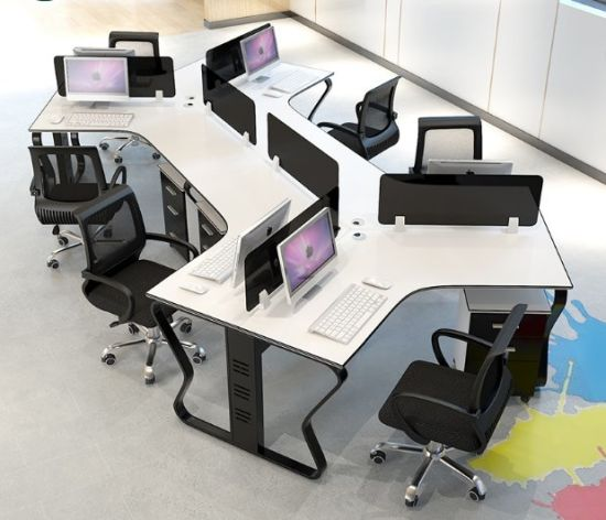 Special Shaped Furniture Customized Workstation (OWCK-1001-17)