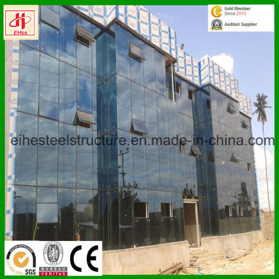 Prefab Steel Construction with Sandwich Board Wall &Glass Wall pictures & photos