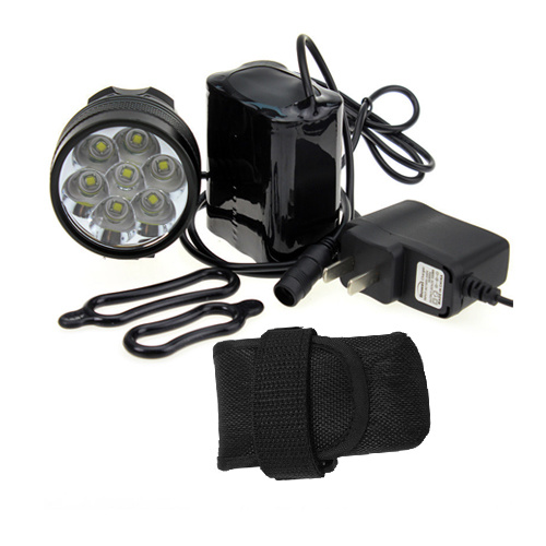 Super Bright Strap Release Design 7-LED Bicycle Light