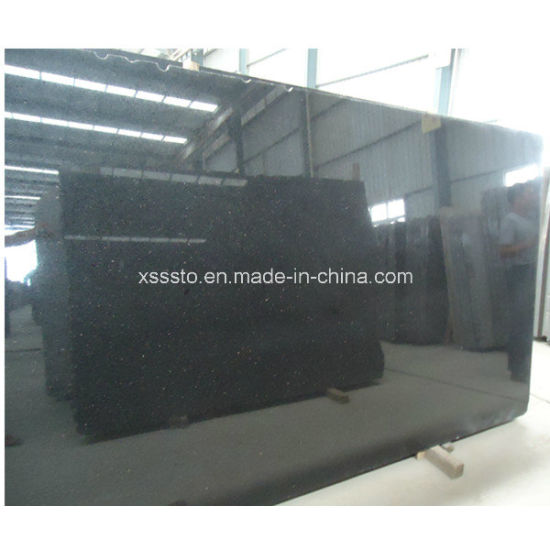 Natural Stone Black Galaxy Granite Slab for Floor pictures & photos