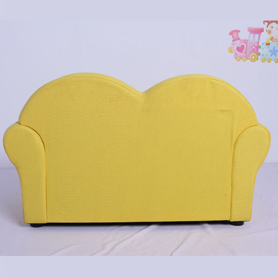 Double Seat Canvas Fabric Kids Sofa with Storage Box pictures & photos