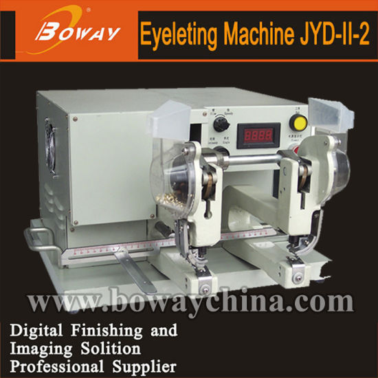 Boway Bag Shoe Hat Two Heads Eyelet Hole Puncher Punching Automatic Eyeleting Machine (JYD-II, JYD-II-2) pictures & photos