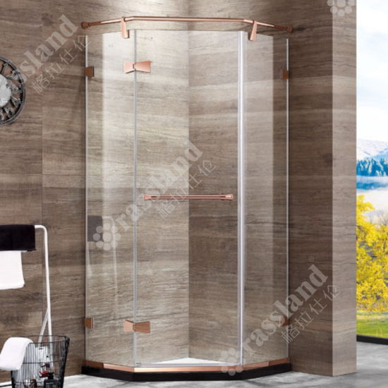 G05z21L Wholesale Customized Competitive Price Tempered Glass Hotel Bathroom Shower Room