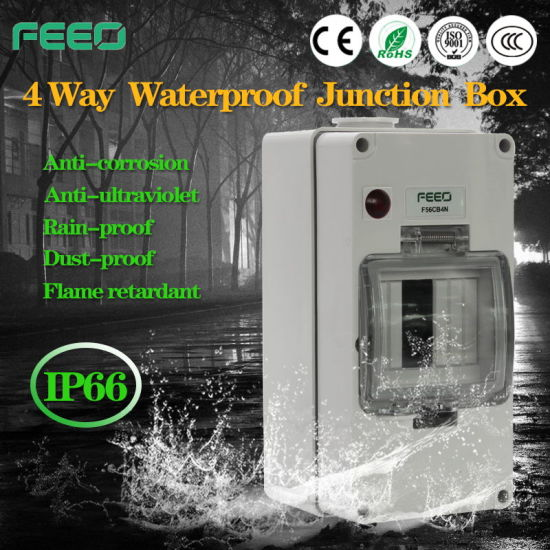 Solar/PV Application 8way IP66 Weatherproof /Waterproof Enclosure pictures & photos