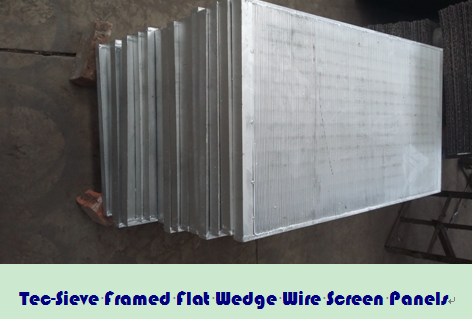 Tec-Sieve Framed Flat Wedge Wire Screen Panels