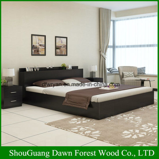 Modern Melamine MDF/Particle Board Simple Design Wooden Bed : bed-simple-design - designwebi.com