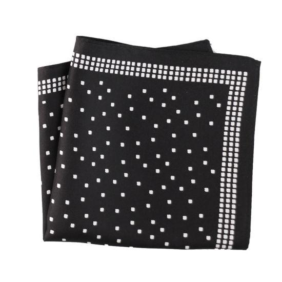 Fashionable Silk Polyester Printed Plaid Pocket Square Hanky Handkerchief